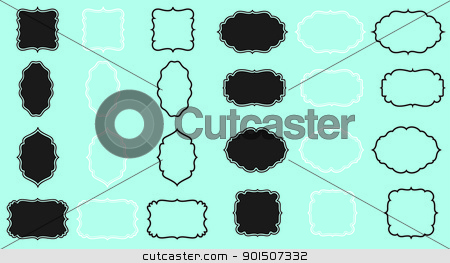 frames pack stock vector clipart, digital frames pack by SvenPowell