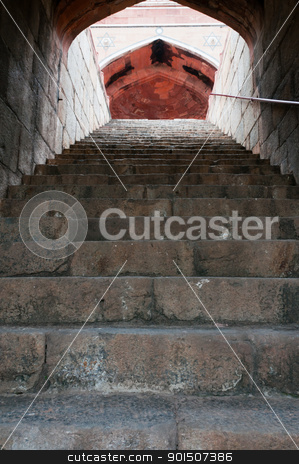 Humayun's tomb stairs, Delhi, India stock photo, Stairs of Humayun's tomb in Delhi, India as an example of early Mughal architecture by Iryna Rasko