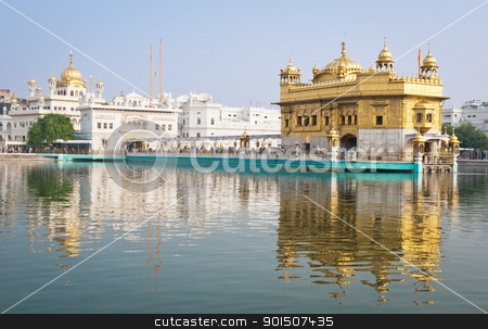 Golden temple, Amritsar, India stock photo, Golden Temple/Darbar Sahib, the spiritual and cultural center of the Sikh religion, India by Iryna Rasko