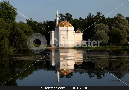 mosque stock photo, The mosque on the shores of Lake by mrivserg