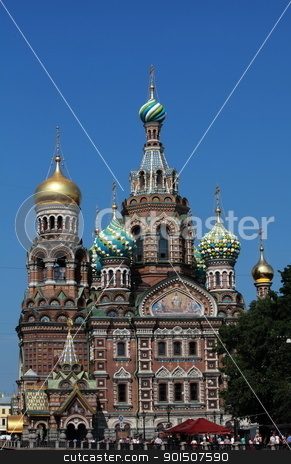 Cathedral  stock photo, Cathedral of the Resurrection on Spilled Blood in St. Petersburg  by mrivserg