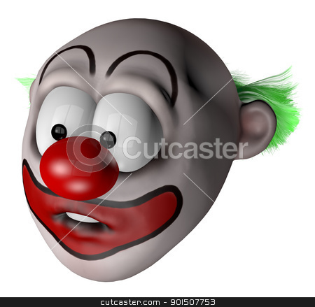 clown stock photo, cartoon clown - 3d illustration by J?