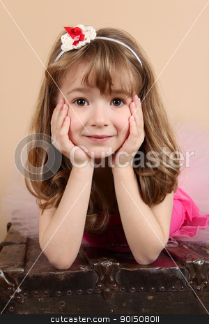 Beautiful girl stock photo, Beautiful little girl wearing a head band  by Vanessa Van Rensburg