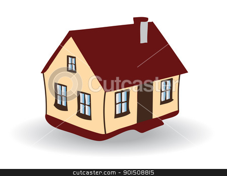 Vector image of House stock vector clipart, Colored EPS vector image of family house by Artush