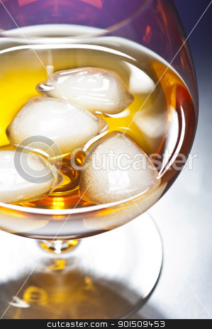 Whisky on the Rocks stock photo, Whisky on the Rocks in front of beautiful background by Ulrich Schade
