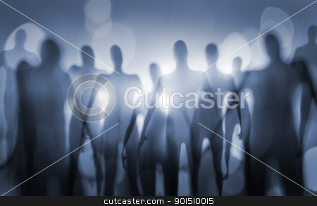 Beings stock photo, Blurry image of nightmarish alien beings. by Stocksnapper 