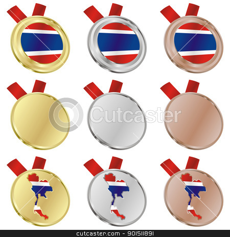 thailand in map and internet buttons shape stock vector clipart, fully editable flag of thailand in map and internet buttons shape by pilgrim.artworks