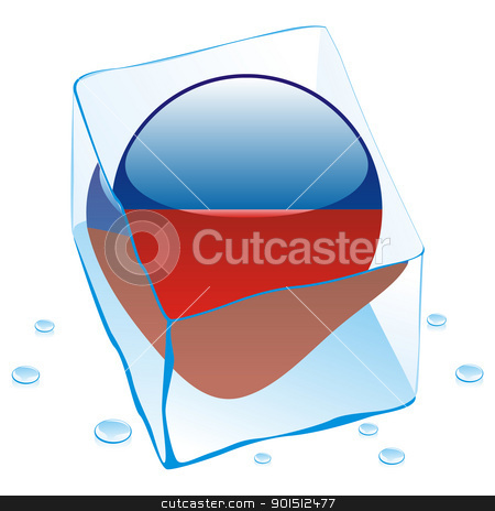 haiti button flag frozen in ice cube stock vector clipart, fully editable vector illustration of haiti button flag frozen in ice cube by pilgrim.artworks