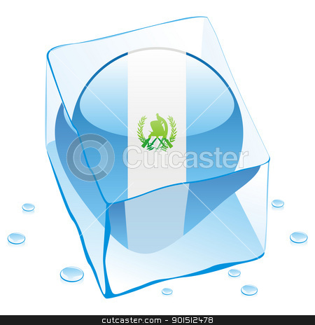 guatemala button flag frozen in ice cube stock vector clipart, fully editable vector illustration of guatemala button flag frozen in ice cube by pilgrim.artworks
