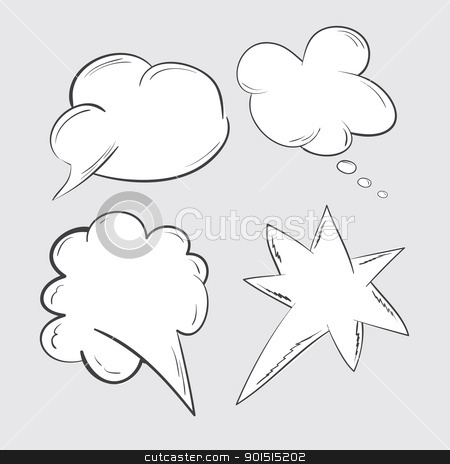 speech bubbles set stock vector clipart, Speech bubbles set. Vector illustration. by antkevyv