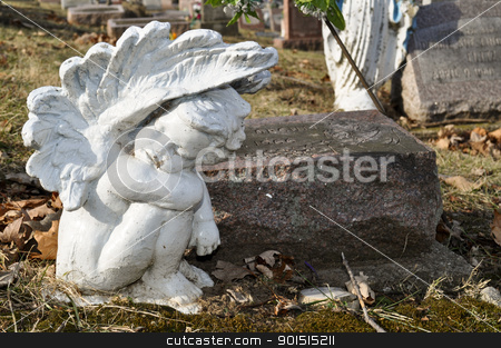 Grave Market Angel stock photo, Grave Market Angel by Liane Harrold