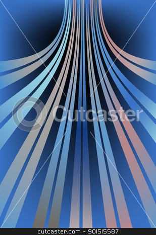 Bent lines stock vector clipart, Abstract editable vector design of bent lines using gradients by Robert Adrian Hillman
