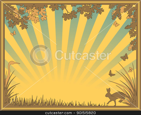 Natural frame stock vector clipart, Editable vector illustration of a natural frame by Robert Adrian Hillman