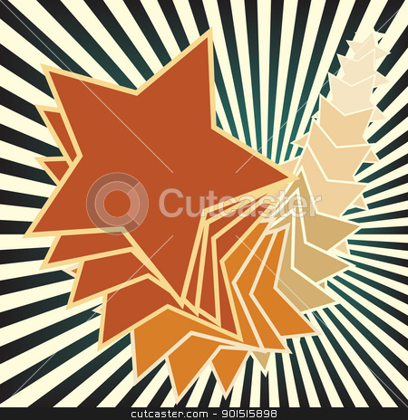 Star trail stock vector clipart, Editable vector illustration of stars and stripes  by Robert Adrian Hillman