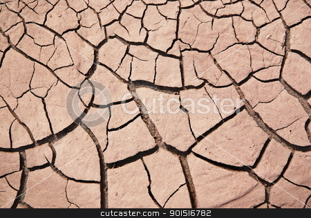 Dry soil stock photo, Dry soil texture on the ground by Vira Dobosh
