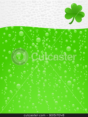 Beer_green stock vector clipart, Green beer with foam background by wingedcats