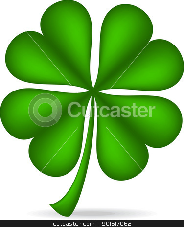 shamrock stock vector clipart, Shamrock isolated over white background. by wingedcats