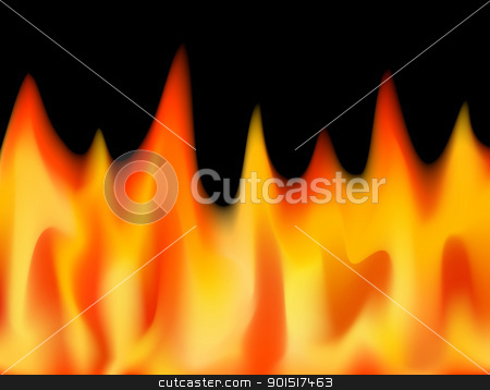 Flamed stock vector clipart, Editable vector illustration of flames made with a gradient mesh by Robert Adrian Hillman