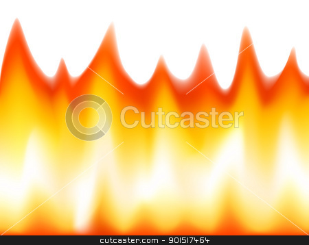 Flaming stock vector clipart, Editable vector illustration of flames made with a gradient mesh by Robert Adrian Hillman