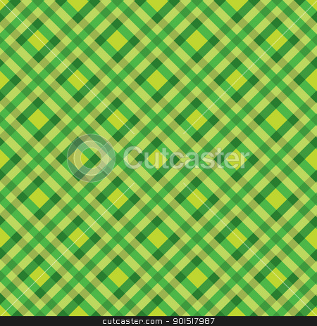 Tratan green background stock vector clipart, Green tartan background ideal backdrop by Michael Travers