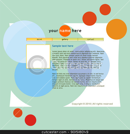 vector template web site stock vector clipart, fully editable vector template web site by pilgrim.artworks