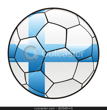 Finland flag on soccer ball stock vector clipart, vector illustration of Finland flag on soccer ball by pilgrim.artworks