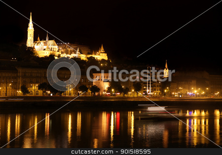 night view of panorama Budapest, Hungary stock photo, details night view of panorama Budapest, Hungary by vladacanon1