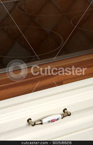 Close up shot of kitchen worktop and drawer stock photo, Details of close up shot of kitchen worktop and drawer by vladacanon1