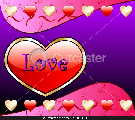 Love Heart Background stock vector clipart, Vector Valentine Background with Love Heart. by Basheera Hassanali
