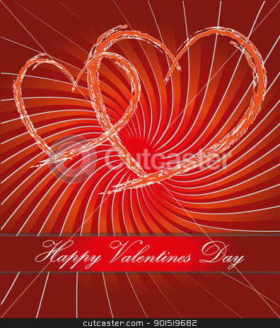 Happy valentines day postcard stock vector clipart, Happy valentines day postcard vector eps by Artush