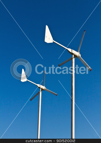 Wind energy turbine  stock photo, Wind energy turbine power station by stoonn