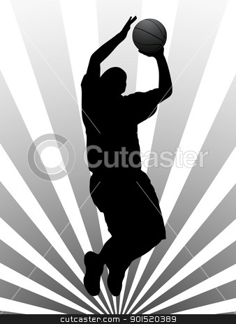 Vector illustration stock vector clipart, Vector illustration of basketball player by Myvector