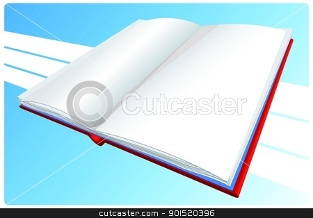 Vector illustration stock vector clipart, Vector illustration of book by Myvector