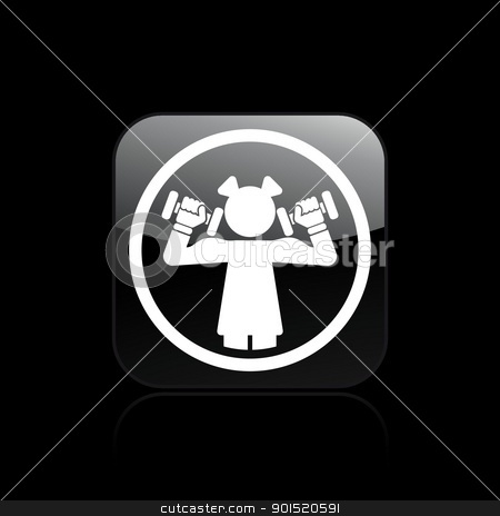 Vector illustration stock vector clipart, Vector illustration of woman gym single icon by Myvector