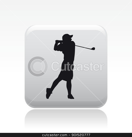 Vector illustration stock vector clipart, Vector illustration of single isolated golf player icon by Myvector