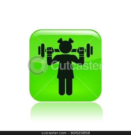 Vector illustration stock vector clipart, Vector illustration of single isolated gym icon by Myvector