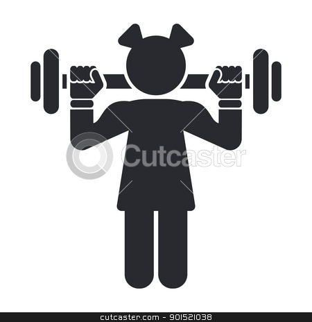 Vector illustration stock vector clipart, Vector illustration of single isolated female gym icon by Myvector