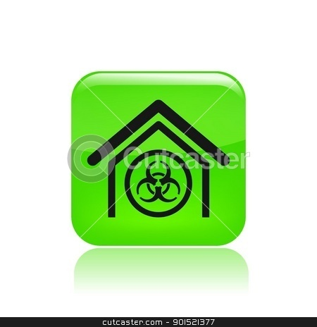 Vector illustration stock vector clipart, Vector illustration of single isolated danger icon  by Myvector