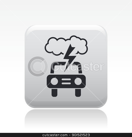 Vector illustration stock vector clipart, Vector illustration of single isolated danger car icon  by Myvector