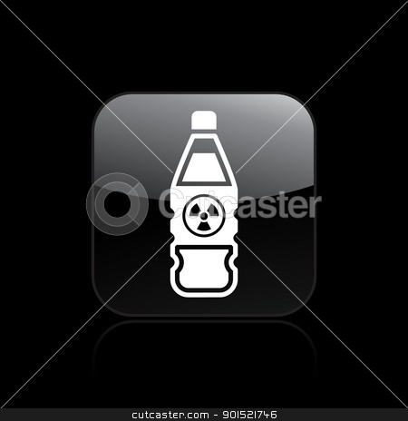 Vector illustration stock vector clipart, Vector illustration of single isolated nuclear bottle icon  by Myvector