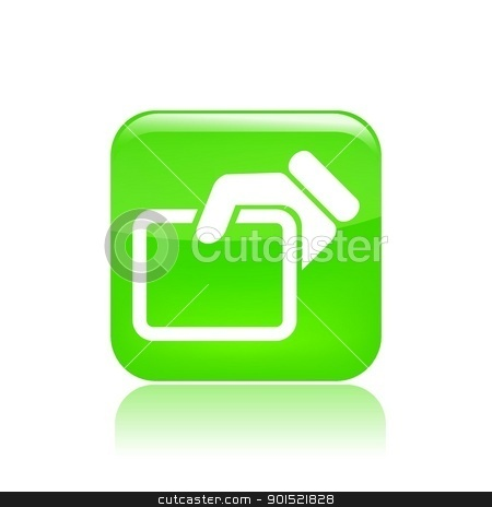 Vector illustration stock vector clipart, Vector illustration of single isolated business card icon  by Myvector