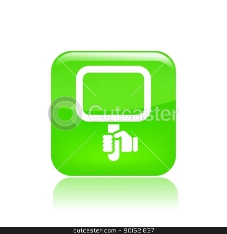 Vector illustration stock vector clipart, Vector illustration of single isolated hand holding sign icon  by Myvector