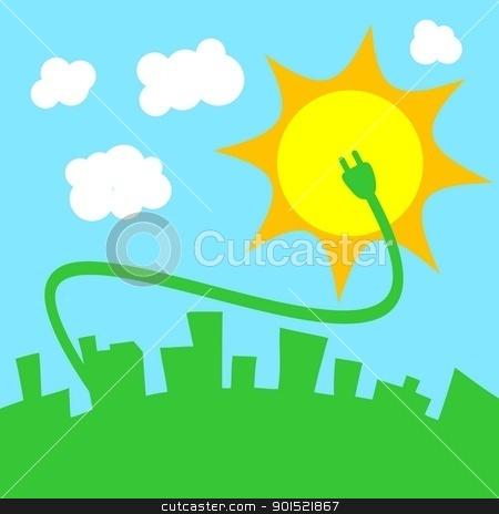 Vector illustration stock vector clipart, Vector illustration of green power concept design by Myvector