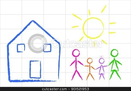 Vector illustration stock vector clipart, Vector illustration of child family design by Myvector