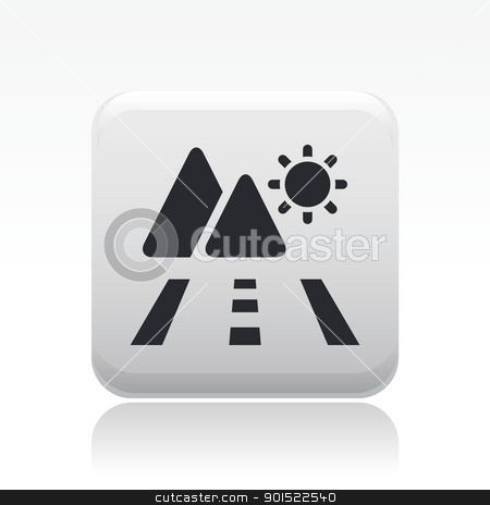 Vector illustration  stock vector clipart, Vector illustration of single isolated travel icon icon by Myvector