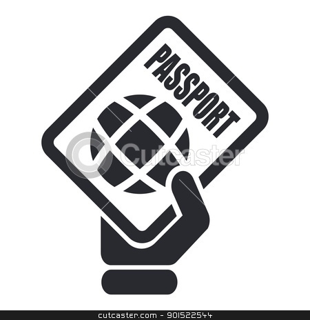 Vector illustration  stock vector clipart, Vector illustration of single isolated passport icon by Myvector