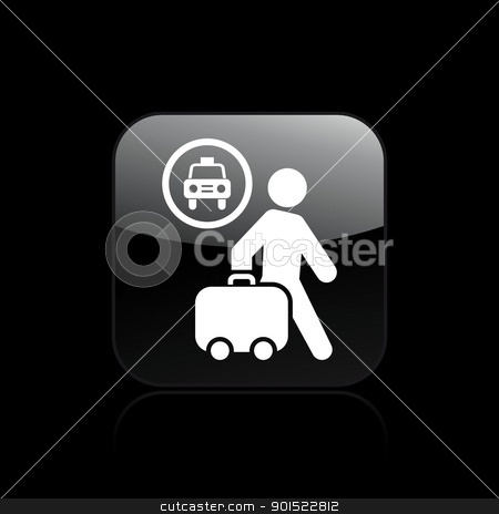 Vector illustration stock vector clipart, Vector illustration of single isolated taxi station icon by Myvector