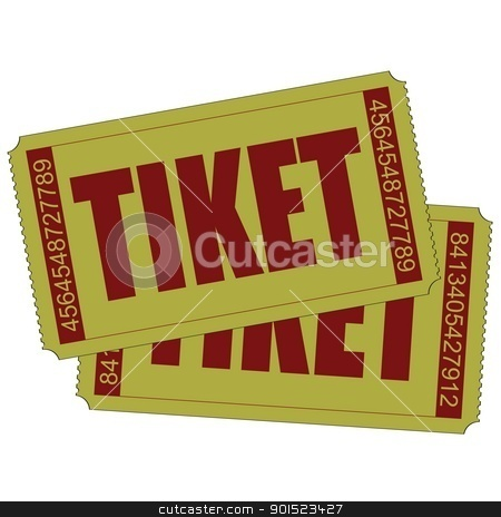 Vector illustration stock vector clipart, Vector illustration of two isolated tiket icon by Myvector