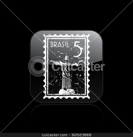 Vector illustration stock vector clipart, Vector illustration of single isolated Brazil icon by Myvector