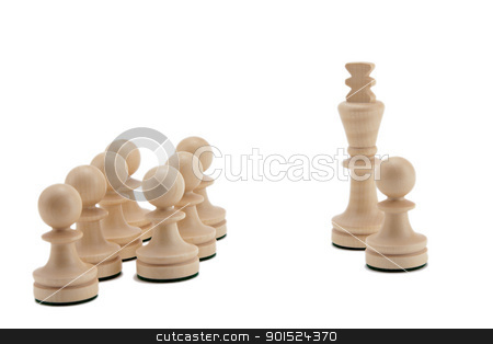 King with pawns stock photo, Pawn near the King against the others by Gyöngyvér Szász